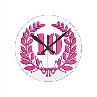 10 congratulation imitation of embroidery round clock