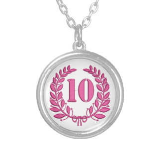 10 congratulation imitation of embroidery silver plated necklace