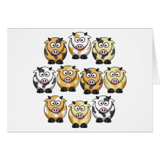 10 Cow Greeting Card