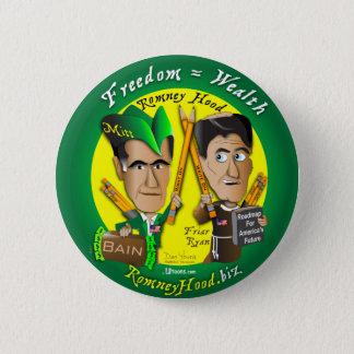 10. Freedom = Wealth 2 Inch Round Button