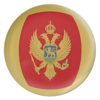 10 inch Plate Montenegro flag