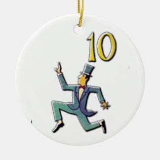 10 Lords a Leaping Ceramic Ornament