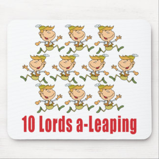 10 Lords a-Leaping Mousepad Mousepads