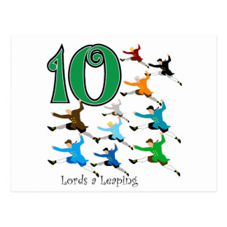 10 Lords Leaping Postcard