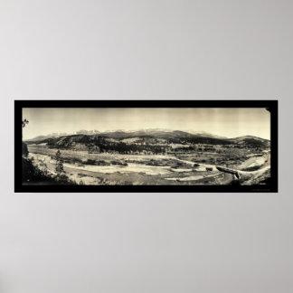 10 Mile Blue River Huge Photo 1917 Poster