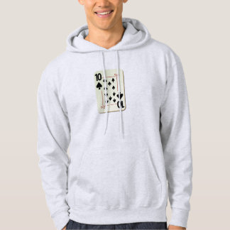 10 of Spades Playing Card Pullover