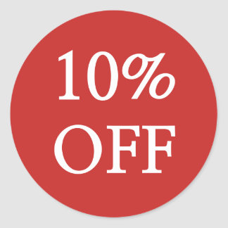 10% OFF Sale Stickers