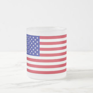 10 ounce Frosted American Flag Mug