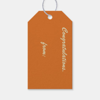 10-Pack of Cinnamon-Colored Gift Tags Pack Of Gift Tags