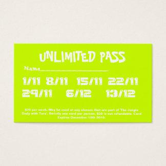 10 PASS BUSINESS CARD