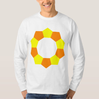 10 Pentagons in Orange and Yellow Shirts