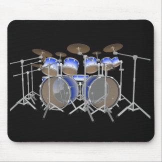 10 Piece Drum Kit: Blue Gradient: Drums Mousepad