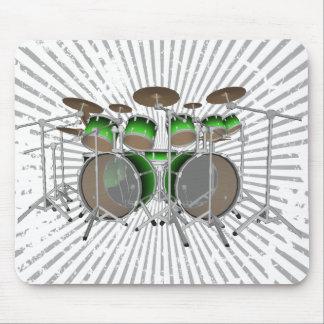 10 Piece Drum Kit: Green Gradient: Drums Mousepad
