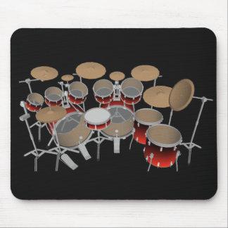 10 Piece Drum Kit: Red Gradient: Drums Mousepad