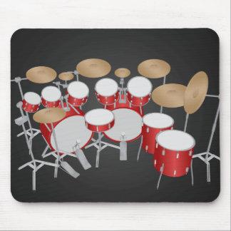 10 Piece Drum Kit: Vector Drawing: Mousepad