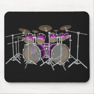 10 Piece Drum Kit: Violet Gradient: Drums Mousepad