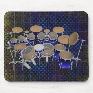 10 Piece Drum Set: Blue Gradient: Drums Mousepad