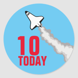 10 Today Sticker