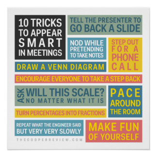 10 Tricks to Appear Smart During Meetings Perfect Poster