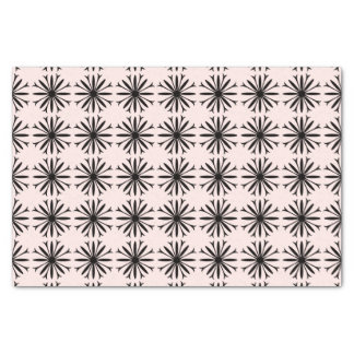 "10"" x 15"" BLACK & WHITE FLOWER LOGO Tissue Paper"