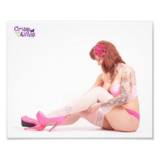 "10"" x 8"" Chrissy Kittens Checking My Stockings Photo Print"
