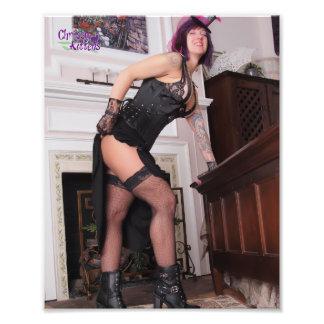 "10"" x 8"" Chrissy Kittens Steampunk Gal Photo Print"