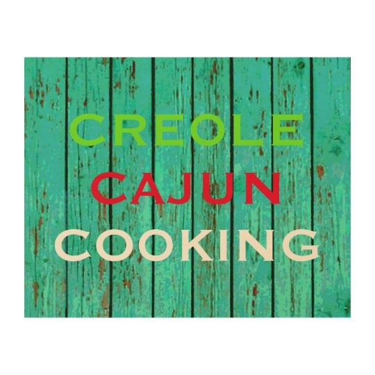 10 X 8 CREOLE CAJUN COOKING WOOD PRINT WALL ART