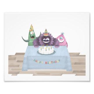 "10"" x 8"", Monster Print - Happy Birthday Photo Art"