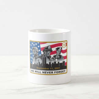 10 Year 9/11 Anniversary 3-Heroes Design Coffee Mug