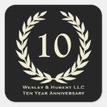10 year milestone anniversary wreath black label stickers