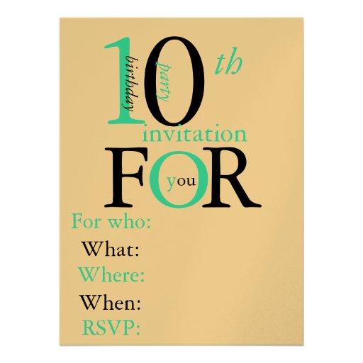 Similiar Cute Birthday Invitations For 10 Year Old Keywords – 10 Year Old Birthday Invitations