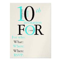 10 Year Old Birthday Invitation