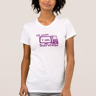 10 Year Y2K Survivor {Purple} T-Shirt