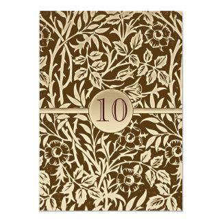 10 years anniversary invitation vintage design
