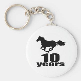 10 Years Birthday Designs Keychain
