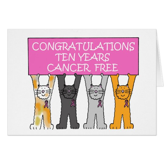10 years cancer free. card