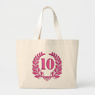 10 years large tote bag