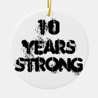 10 Years Strong Recovery Ornament
