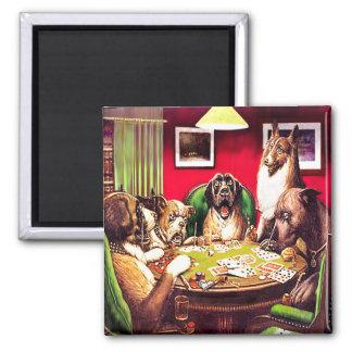 10b  Poker Dogs:Waterloo (approx. 1903) Magnet
