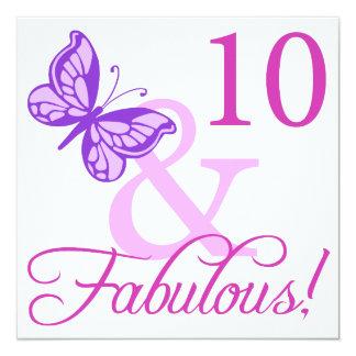 10ème anniversaire fabuleux invitations