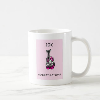 10K congratulations for female. Coffee Mug