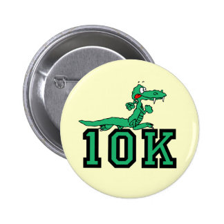 10K gator 2 Inch Round Button