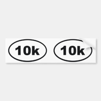 10k oval bumper sticker