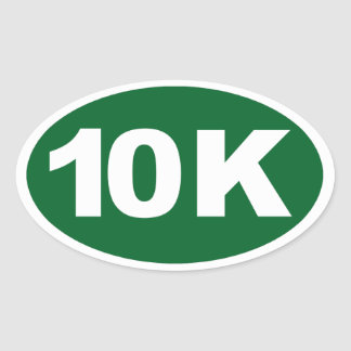 10K OVAL STICKER