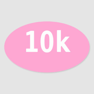 10k Race or Walk Oval Sticker