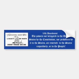 10th Amendment Bumper Sticker