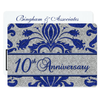 10th Anniversary Business Announcement Blue