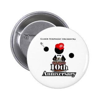 10th Anniversary Button