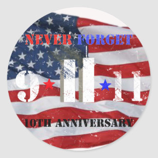 10th Anniversary for September 11 Classic Round Sticker