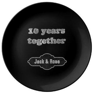 10th Anniversary Keepsake | 10 Years Together Plate
